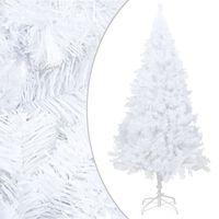 vidaXL Árbol de Navidad artificial con ramas gruesas PVC blanco 180 cm