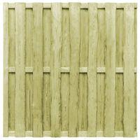 vidaXL Panel de valla de jardín madera de pino  verde 180x180 cm