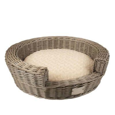 Duvo+ Cama para mascotas Provence con almohada mimbre