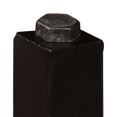 vidaXL Muebles de bar 5 piezas madera maciza sheesham cuero auténtico