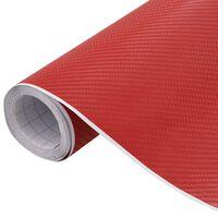 vidaXL Lámina para coches rojo mate 4D 500x152 cm