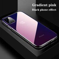 Funda para iPhone 11 Pro Max - transparente / rosa