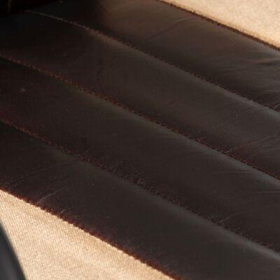 vidaXL Sillas de comedor 2 unidades cuero auténtico marrón