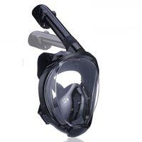 Máscara de snorkel con soporte para cámara - negro - S / M