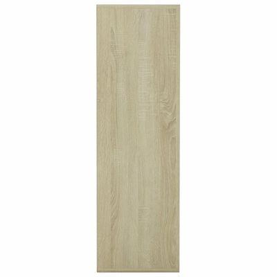 vidaXL Estantería de aglomerado blanco y roble Sonoma 98x30x98 cm