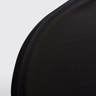 vidaXL Fundas elásticas para silla negras 100 unidades
