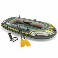 Intex Barca inflable Seahawk 2 68347NP con remos y bomba