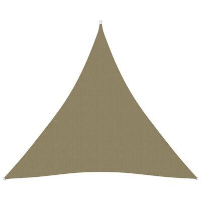 vidaXL Toldo de vela triangular de tela oxford beige 4,5x4,5x4,5 m