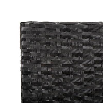 vidaXL Banco de jardín con cojines ratán sintético negro 176 cm