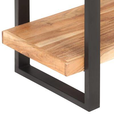 vidaXL Estantería de 4 niveles madera maciza de acacia 160x40x180 cm