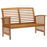 vidaXL Banco de jardín madera de acacia maciza 119 cm