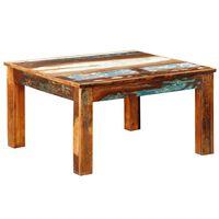 vidaXL Mesa de centro cuadrada de madera reciclada