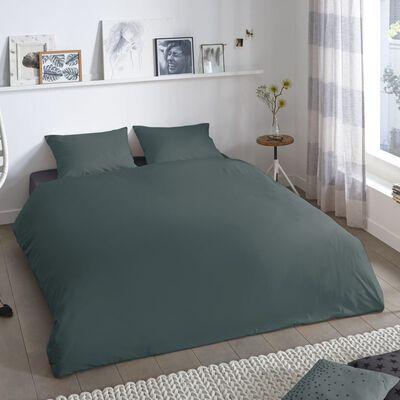 Good Morning Funda de edredón Uni 200x200/220 cm verde oscuro