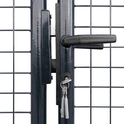 vidaXL Puerta de malla de jardín acero galvanizado 400x150 cm gris