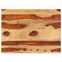 vidaXL Superficie de mesa madera maciza de sheesham 15-16 mm 60x70 cm