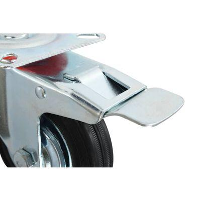 vidaXL Ruedas giratorias con frenos dobles 4 unidades 100 mm