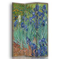 Biombo Lirios - Vincent Van Gogh - Separador de Ambientes