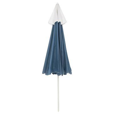 vidaXL Sombrilla de playa azul 240 cm