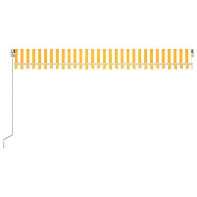vidaXL Toldo manual retráctil con LED amarillo y blanco 500x300 cm