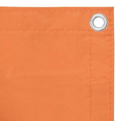 vidaXL Toldo para balcón de tela oxford naranja 120x500 cm