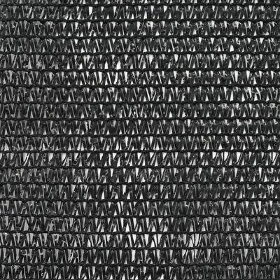 vidaXL Toldo para pista de tenis HDPE 2x25 m negro