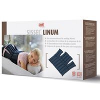 Sissel Bolsa de calor de granos de lino Linum 38x36cm azul SIS-150.051