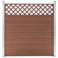 vidaXL Valla de jardín de WPC marrón 180x185 cm