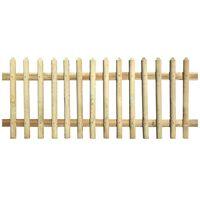 vidaXL Valla de madera de pino impregnada 170x120 cm 5/7cm
