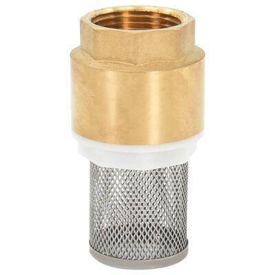 vidaXL Manguera de succión con conectores de latón 3 m 25 mm negra