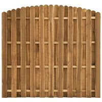 vidaXL Panel de valla de jardín de madera de pino 180x(155-170) cm