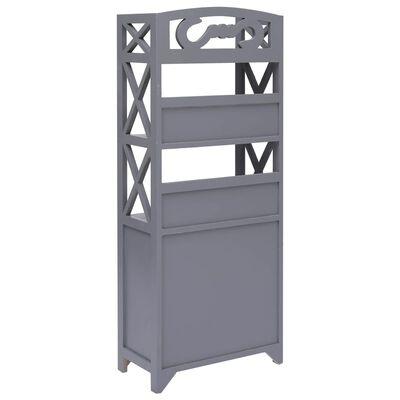 vidaXL Mueble de cuarto de baño madera Paulownia gris 46x24x116 cm