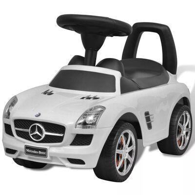 vidaXL Coche correpasillos para niños Mercedes Benz blanco
