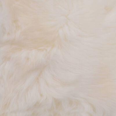 vidaXL Cojines de sillas 2 uds piel de oveja auténtica blanco 40x40 cm