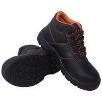 vidaXL Zapatos de seguridad tobillo alto Negros Talla 41 Cuero