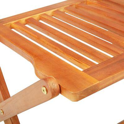 vidaXL Set comedor de jardín plegable 7 piezas madera maciza de acacia
