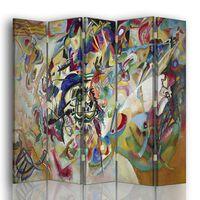 Biombo Composición VII - Wassily Kandinsky - Separador de Ambientes