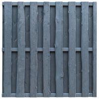 vidaXL Panel de valla de jardín madera de pino 180x180 cm gris