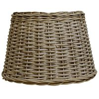 vidaXL Pantalla de lámpara de mimbre marrón 45x28 cm
