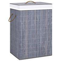 vidaXL Cesto de ropa sucia de bambú gris