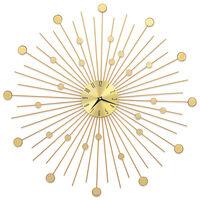 vidaXL Reloj de pared de metal dorado 70 cm