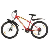 vidaXL Bicicleta de montaña 21 velocidades rueda 26 pulgadas 42cm rojo