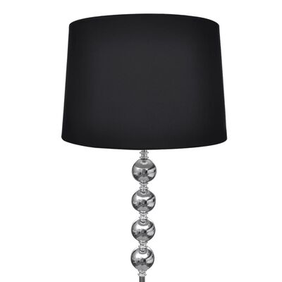 vidaXL Lámpara de pie pantalla y soporte alto 4 bolas adorno negra