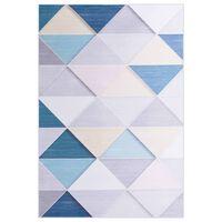 vidaXL Alfombra estampada tela multicolor 120x160 cm