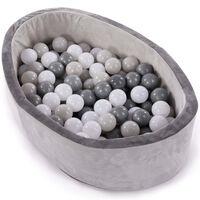 Bo Jungle Piscina de bolas con 120 bolas B-Ball gris