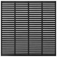 vidaXL Valla de lamas WPC negra 170x170 cm