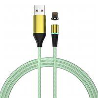 Cable de carga con LED y enchufe antipolvo - iPhone - verde
