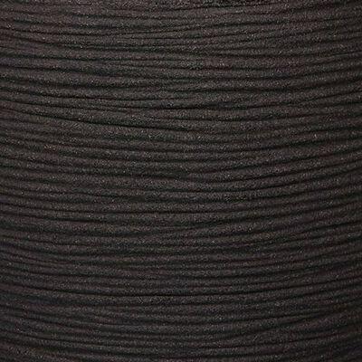 Capi Jarrón Nature Rib elegante Deluxe 40x60 cm negro KBLR1131