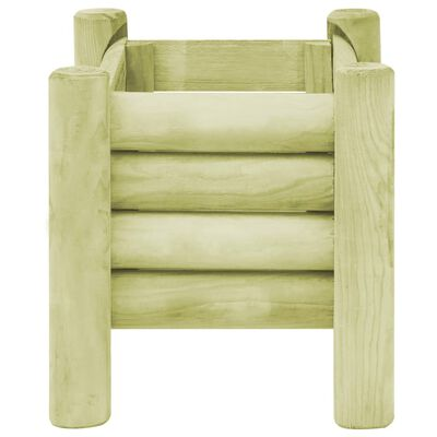vidaXL Arriate de madera de pino impregnada 60x40x42 cm