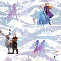 Kids at Home Papel pintado Frozen Scene morado