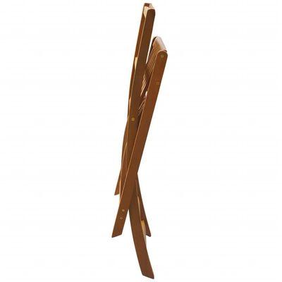 vidaXL Taburetes plegables de bar de jardín 2 uds madera maciza acacia
